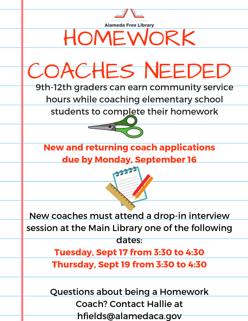 August 2019 Homework Coaching Flyer