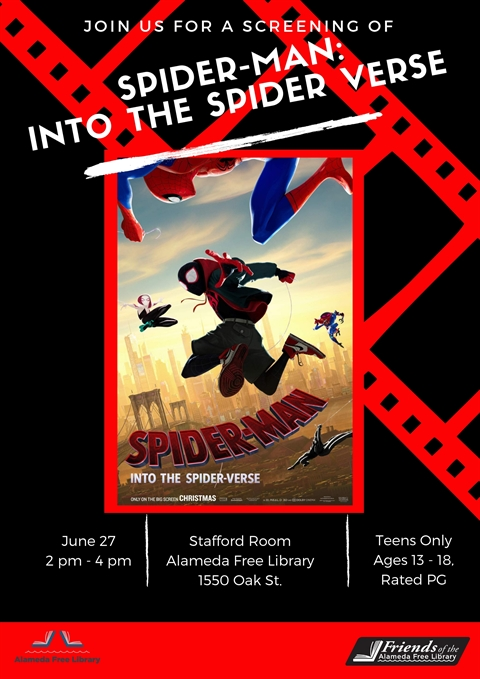 Teen Movie Screening: Into the Spider-verse | Alameda Free Library